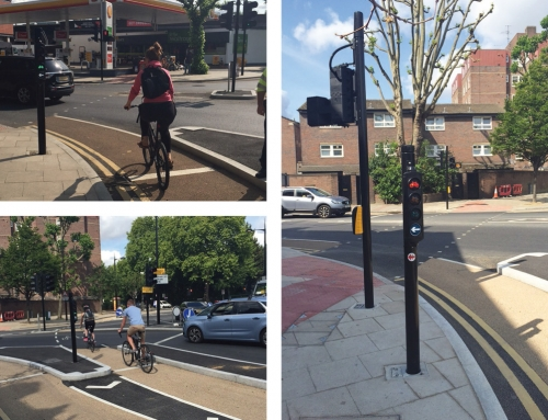 Cycle Superhighway Signal Pole